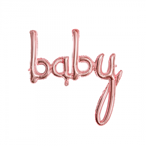 Balon rose gold Baby /74 cm
